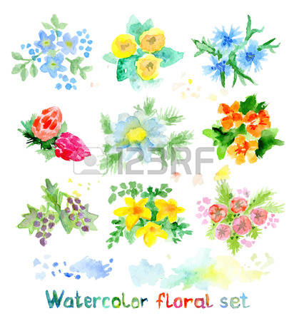 7,992 Aquarelle Elements Stock Vector Illustration And Royalty.