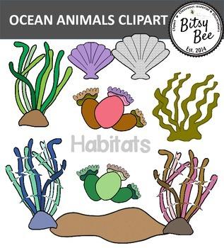 OCEAN ANIMALS AND AQUARIUM CLIP ART.