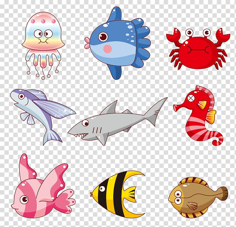 Cartoon Fish , fish,Aquarium,Aquatic,animal,Cartoon.