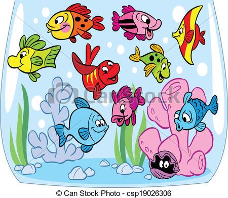 Aquarium fish clipart.