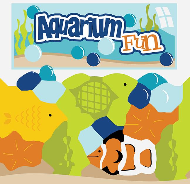 Aquarium Fun SVG aquarium clipart fish svg files turtle svg.