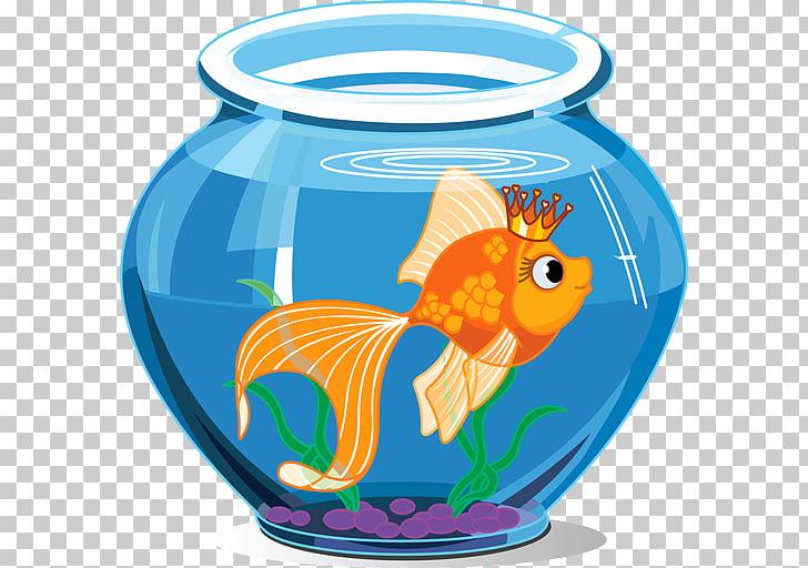 Goldfish Aquarium Drawing , fish tank PNG clipart.