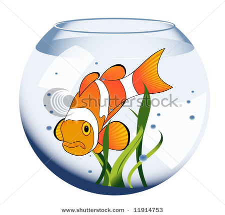 Tropical fish tank clipart.