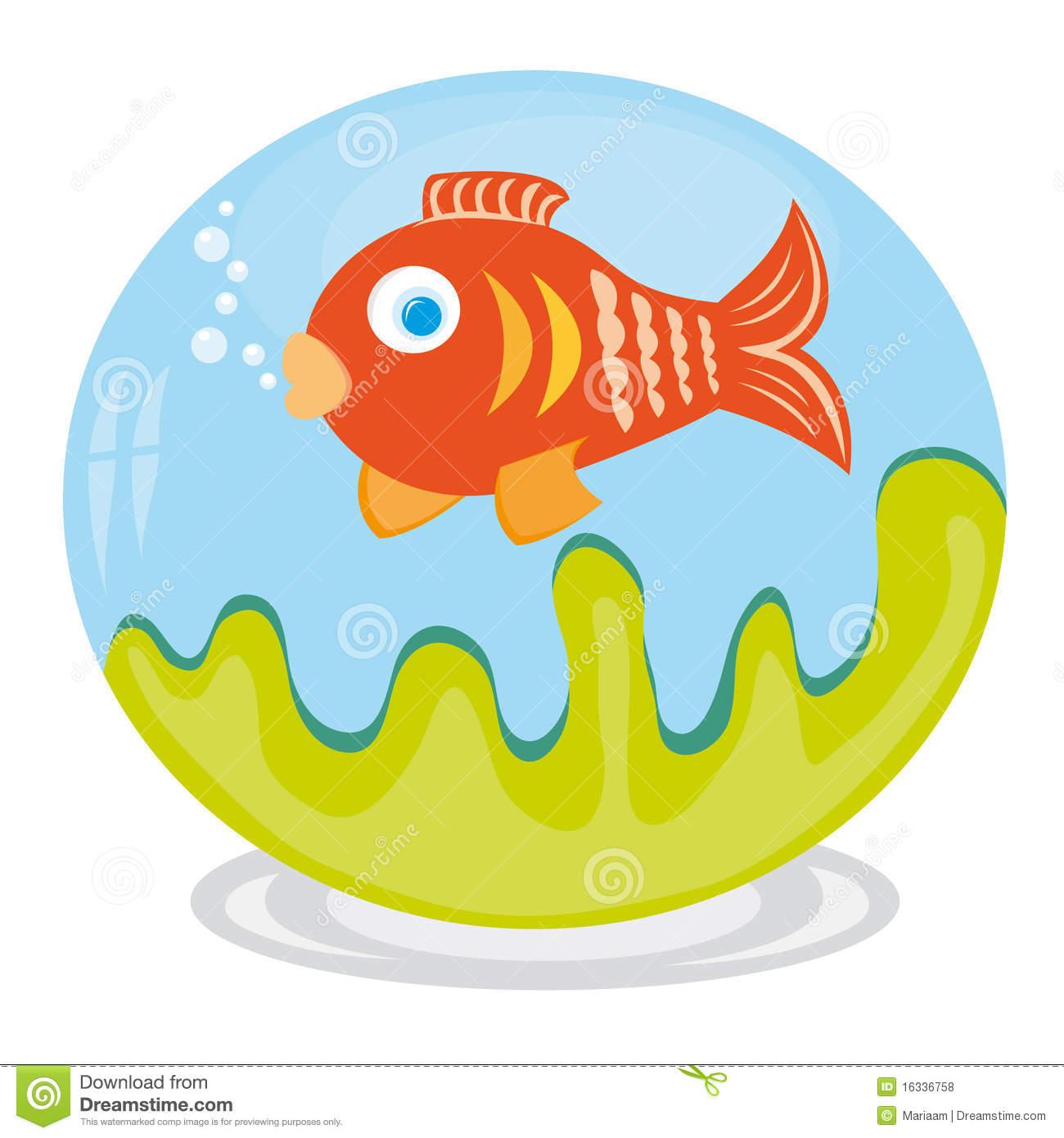 Clip Art Of Fish In Aquarium Royalty Free Stock Photos.
