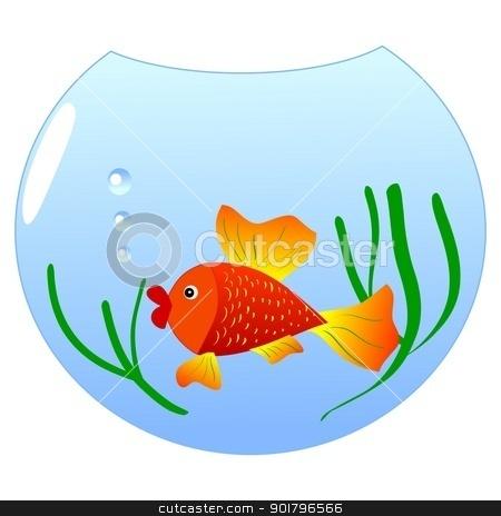 Aquarium without fish clipart.