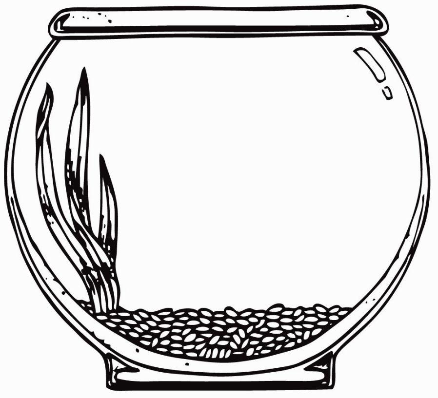 Image for Aquarium Coloring Page.