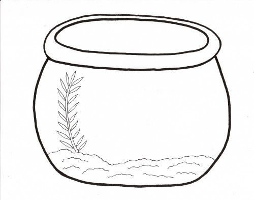 Empty+Fish+Bowl+Coloring+Page.