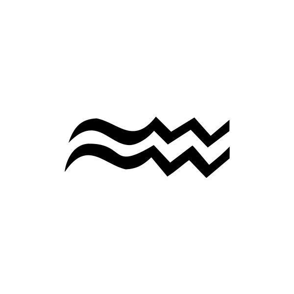 zodiac symbol Aquarius BW.