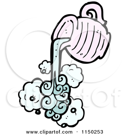 Cartoon of a Pouring Aquarius Water Jug.