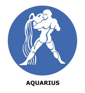Aquarius sign clipart.