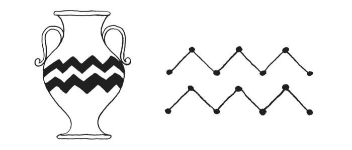 Aquarius Symbol and Astrology Sign Glyph.
