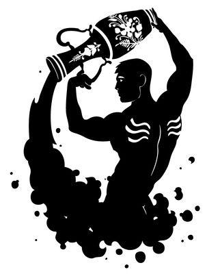 Aquarius Tattoo Design Inked Man + Water Vase.