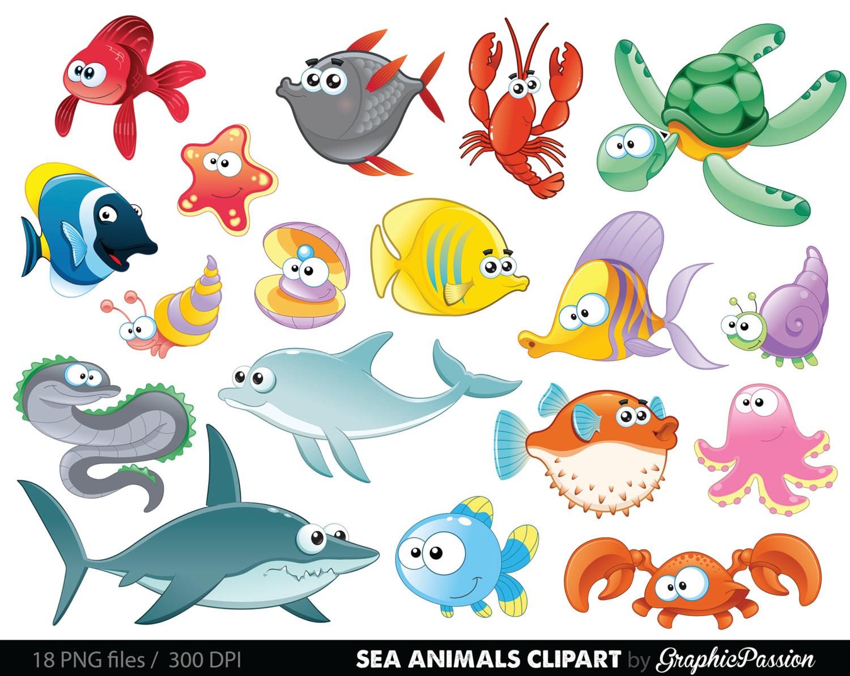 Aquatic animals clipart 5 » Clipart Station.