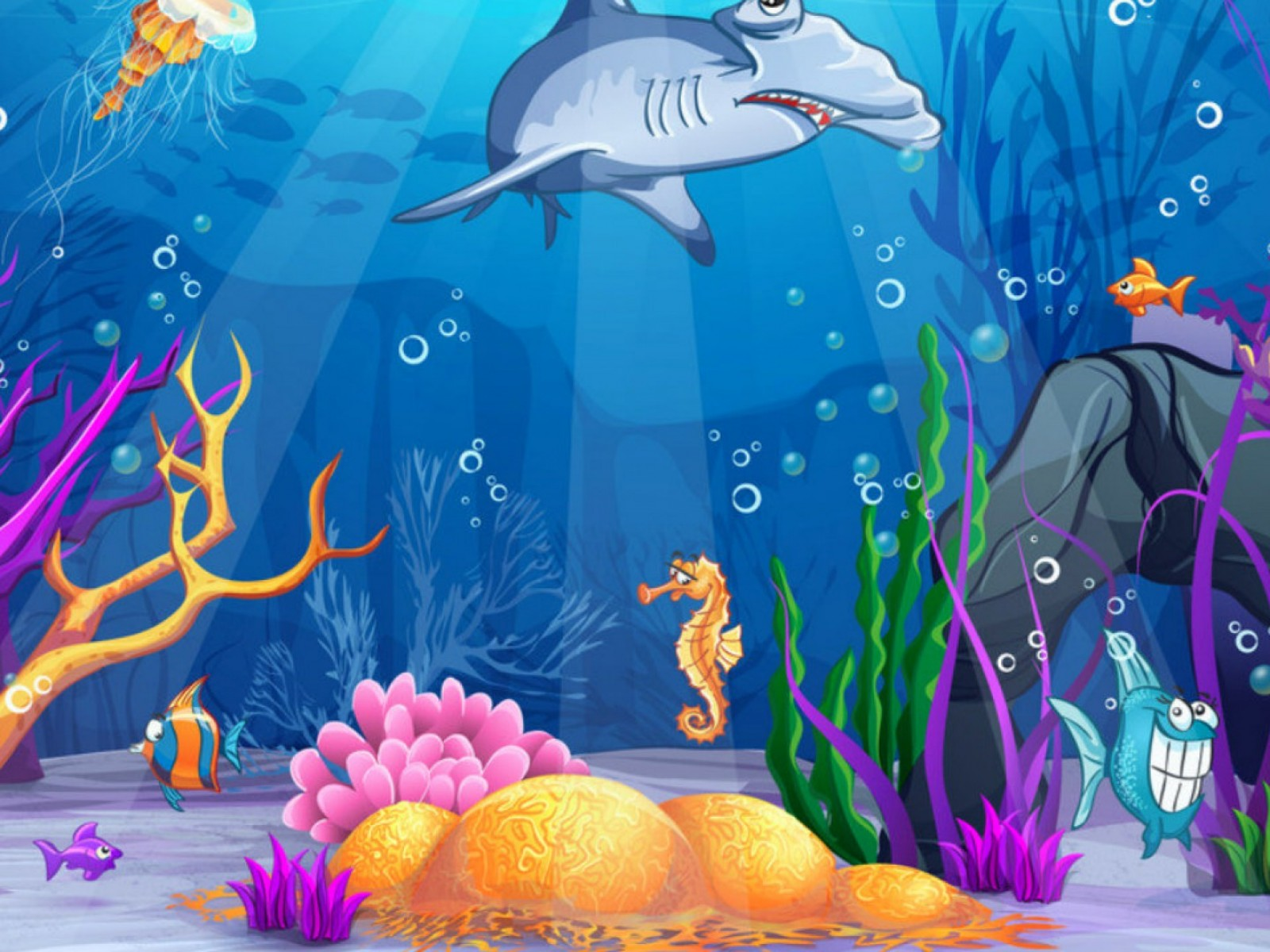 Underwater background with plants clipart.