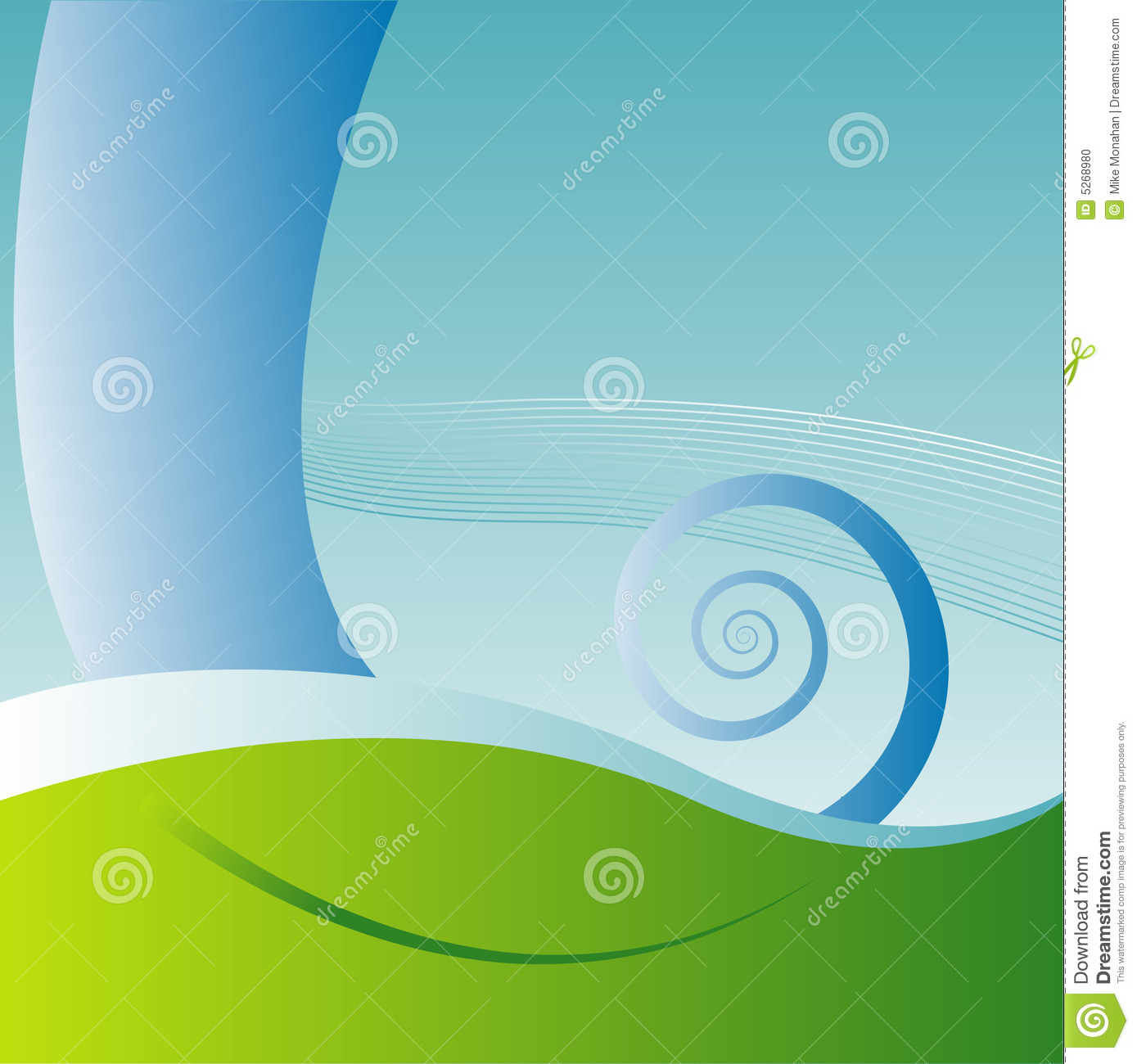 Abstract Aquatic Background Stock Photo.