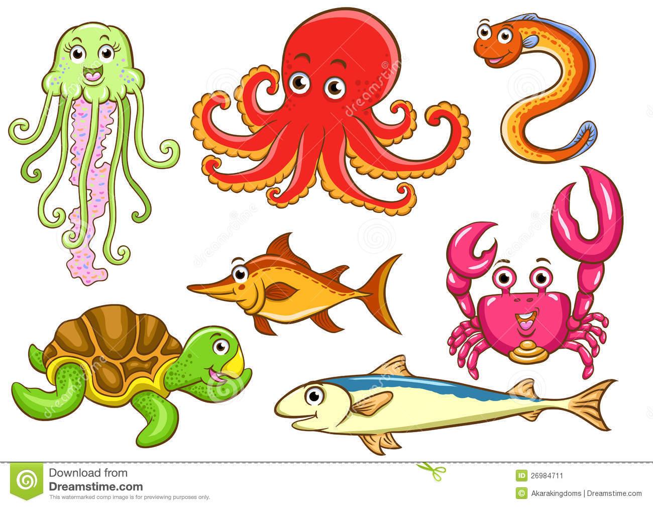 Aquatic Animals Stock Image.