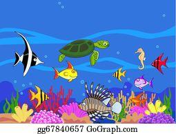 Sea Life Clip Art.