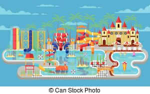 Water park Clipart Vector Graphics. 3,370 Water park EPS clip art.