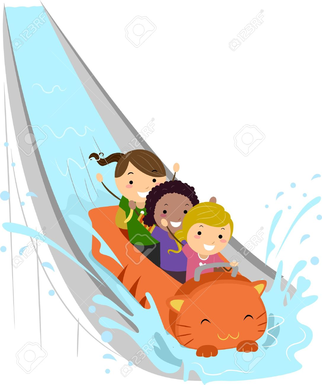 Water rides clipart.