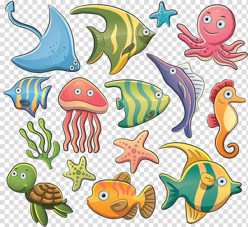 Aquatic animal Sea , sea transparent background PNG clipart.