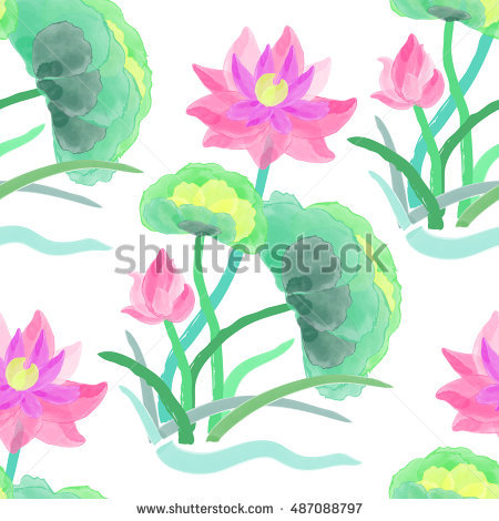 Purple Water Lily Stock Vectors, Images & Vector Art.