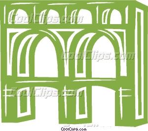 aqueducts Vector Clip art.