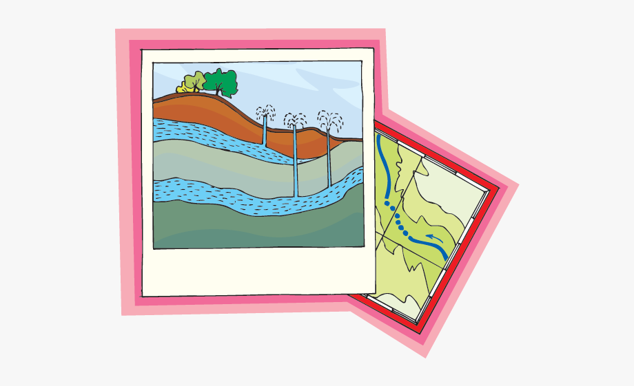Clipart Of Groundwater And Aquifer, Cliparts & Cartoons.