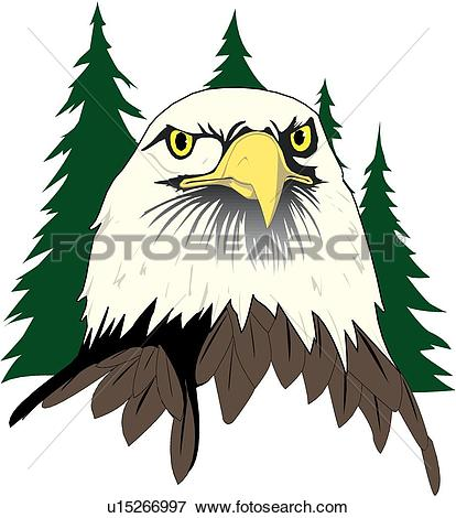 Clipart of Eagle Flying u10124581.