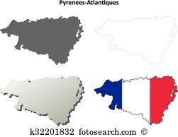 Aquitaine shoreline Clipart Vector Graphics. 4 aquitaine shoreline.