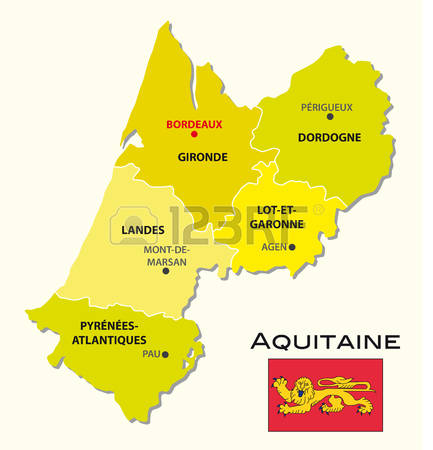 89 Aquitaine Region Map Cliparts, Stock Vector And Royalty Free.