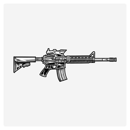 Ar15 Cliparts, Stock Vector And Royalty Free Ar15 Illustrations.