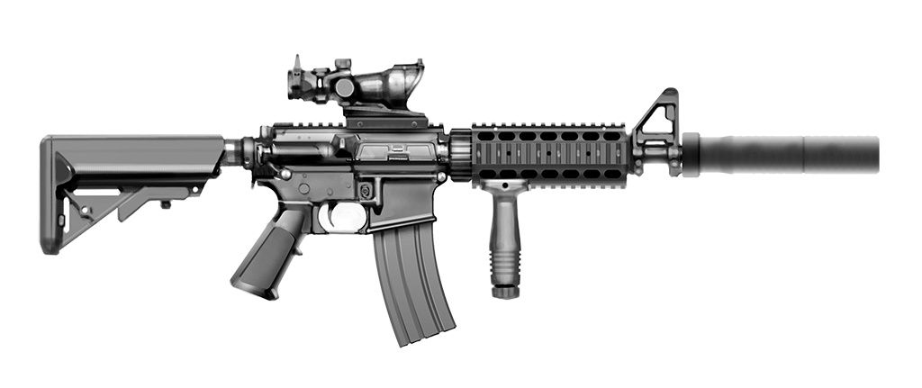 America's obsession with automatic weapons.
