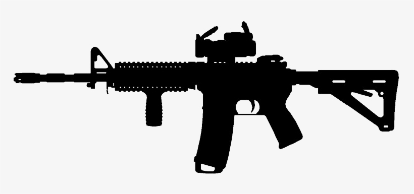 Assault Rifle Silhouette Png.