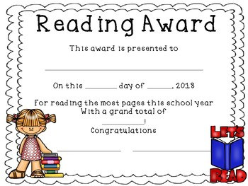 End of Year Reading Awards.