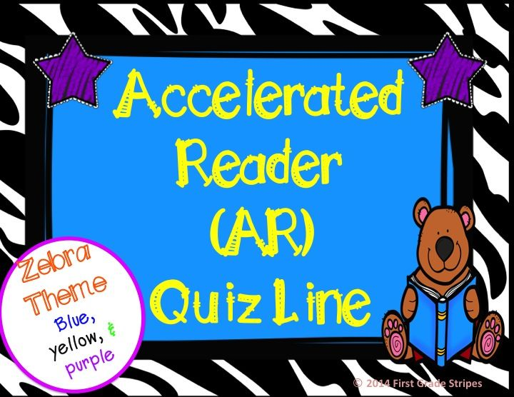 Accelerated Reader (AR) Quiz Line.