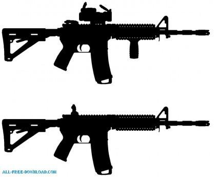 Ar 15 guns cliparts.