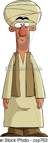 Vector Clipart of Arab on a white background, vector illustration.