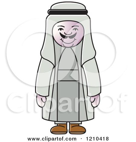 Arab man clipart.