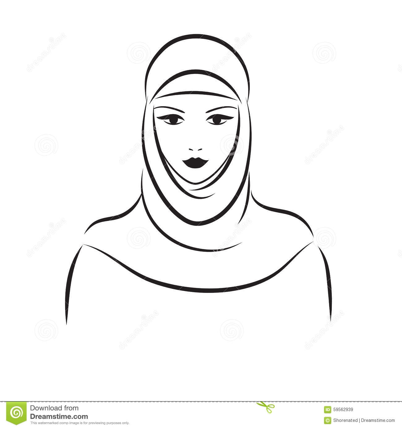 Muslim Mother Clipart Black And White.