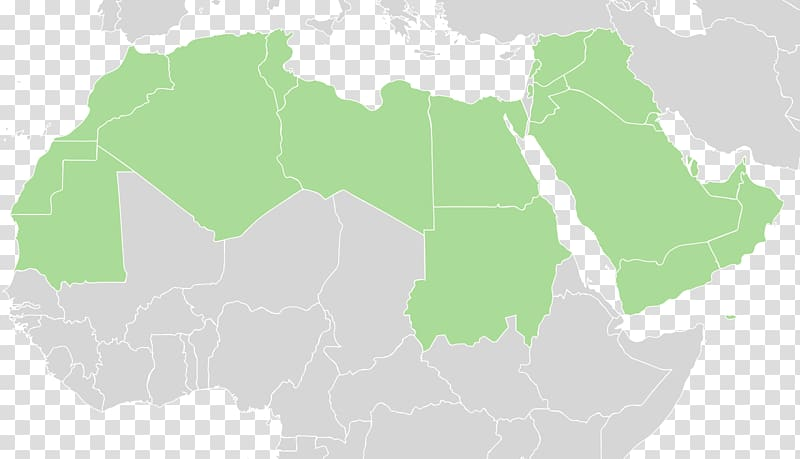 Arab world Middle East North Africa World map, arabic world.