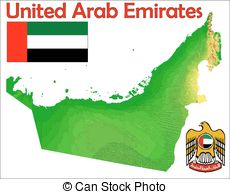 United arab emirates map Clipart Vector Graphics. 430 United arab.