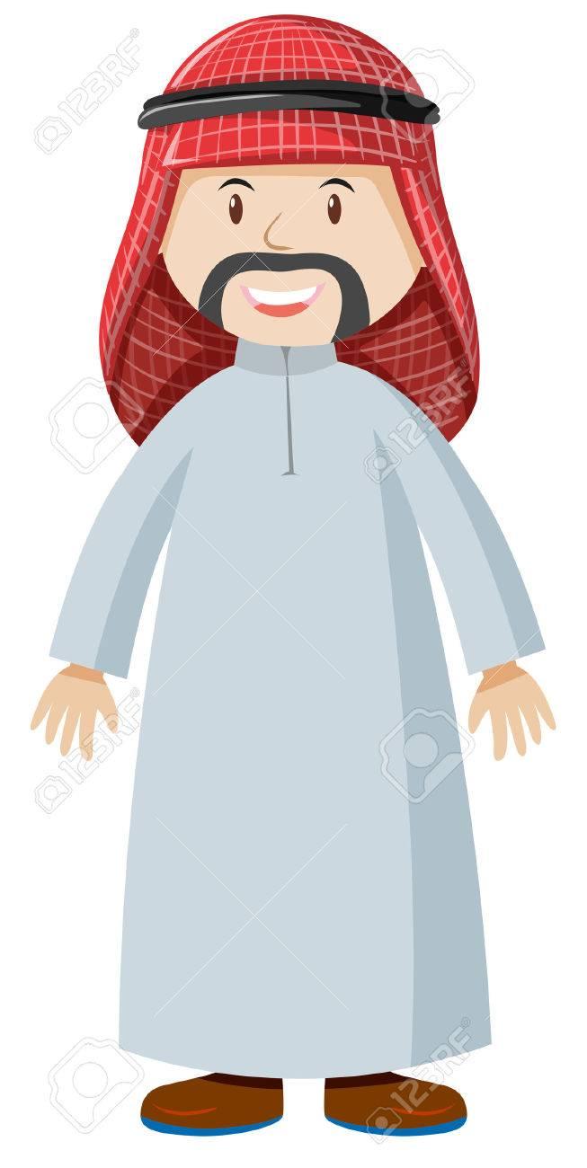 Arab man clipart 7 » Clipart Station.