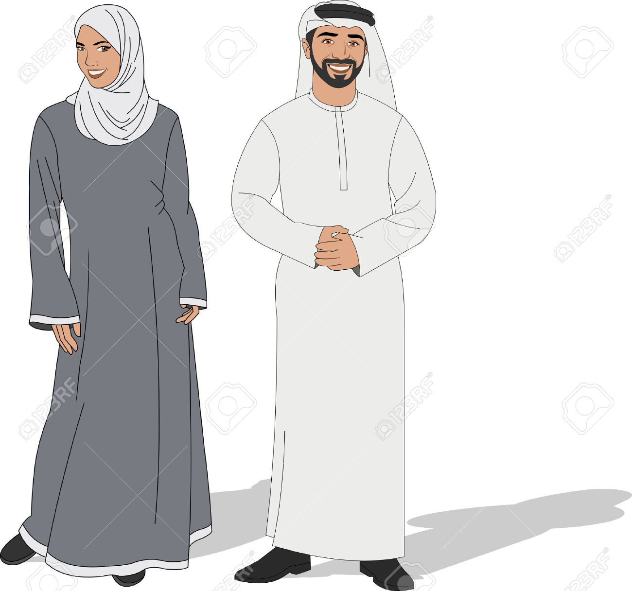 Uae Traditional Dress Clipart.
