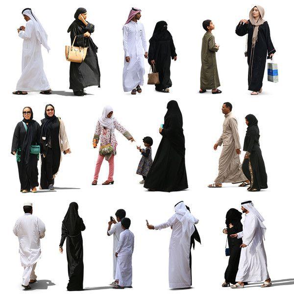 Texture psd popolo arabo musulmano.