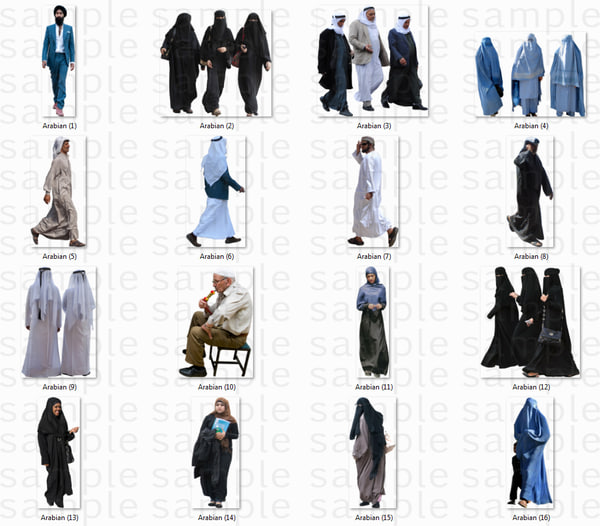 Arabian People Cutout Images.