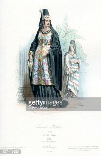 Arab Woman IN Traditional Costume stock vectors.