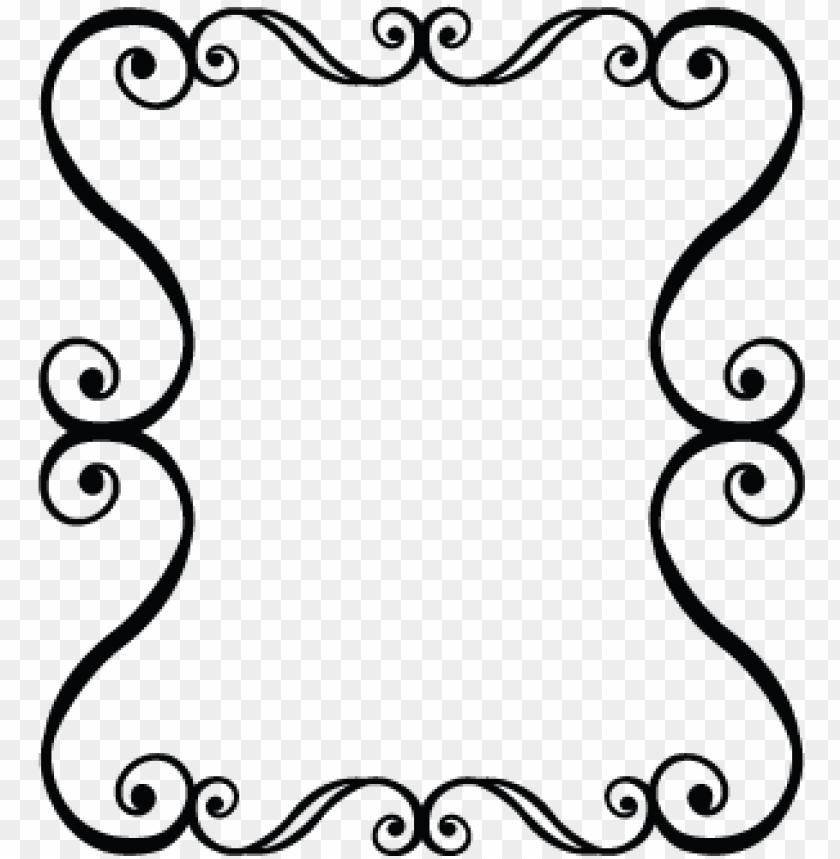 bordas preto e branco arabesco png.