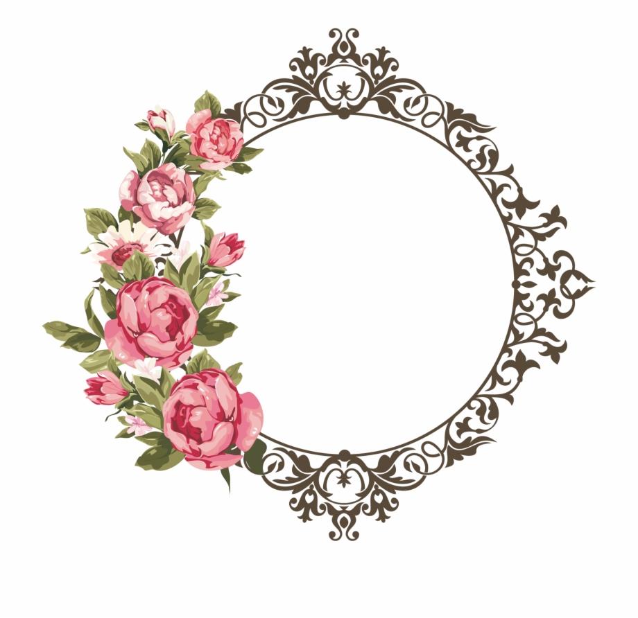 Flower Frame Png, Rose Frame, Paper Frames, Vintage.