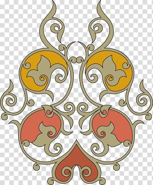 Arabesque Islamic art , design transparent background PNG.