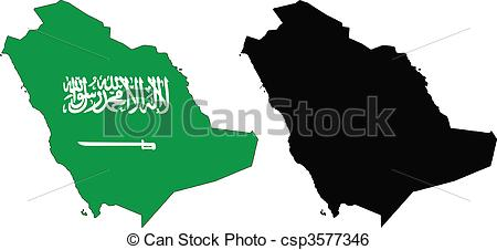 Clip Art Vector of Saudi Arabia.